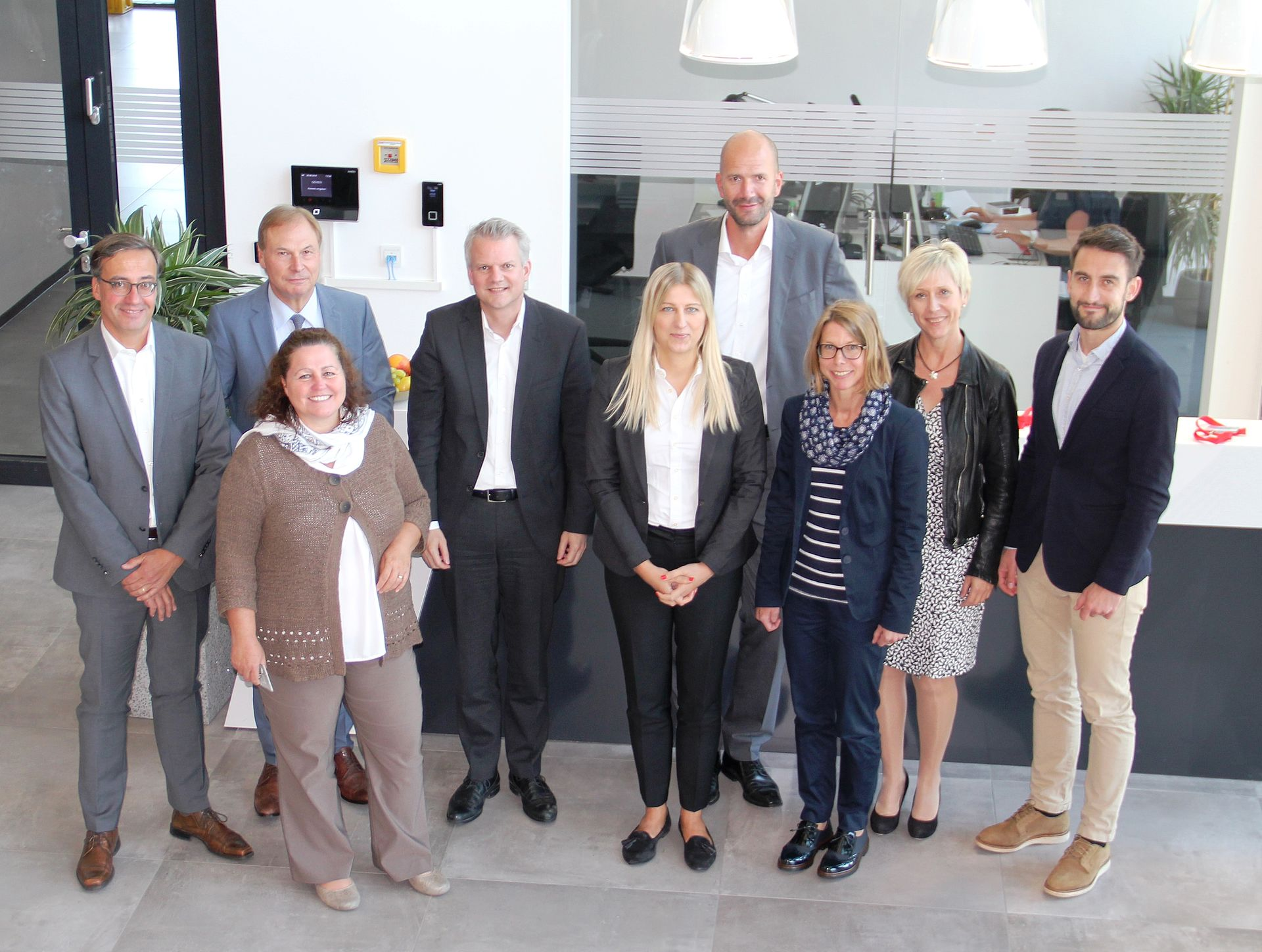 "Partners of the ""Older employees and the working world"" initiative visiting OHB in Oberpfaffenhofen"