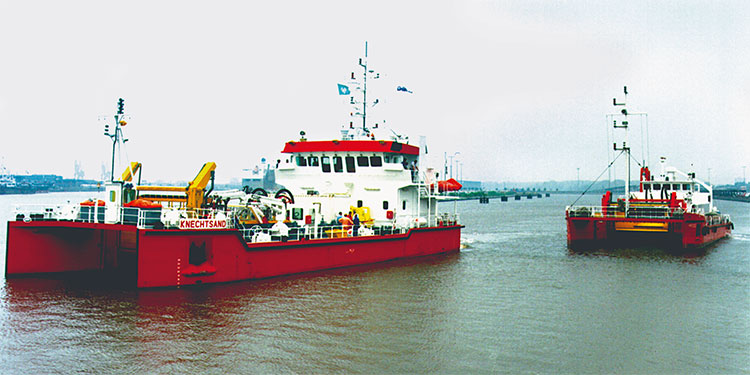 Back in the 1980s, OHB worked on the oil skimming ships MPOSS and Knechtsand.