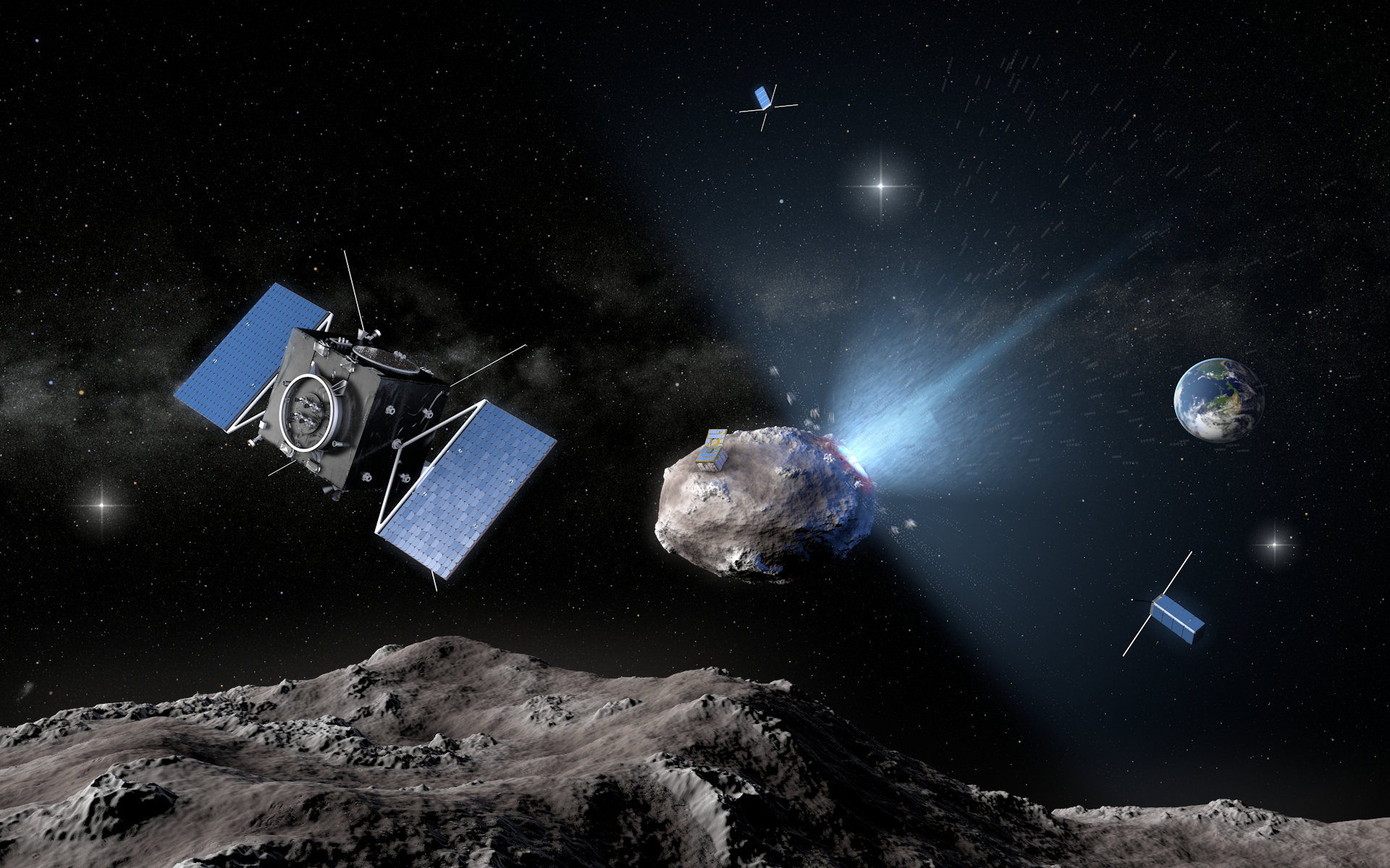 Only space technology can protect the world from asteroids